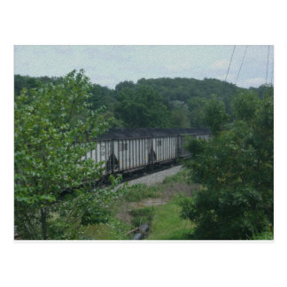 Cartão Postal Trem carregado de carvão