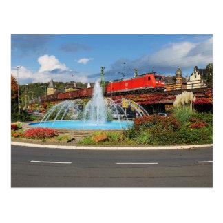 Cartão Postal Trem de carga em Linz à reno