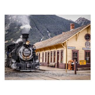Cartão Postal Trem de Durango Silverton no depósito de Silverton