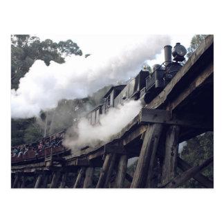 Cartão Postal Trem de sopro do vapor de Billy
