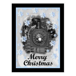 Cartão Postal Trem do modelo do Feliz Natal