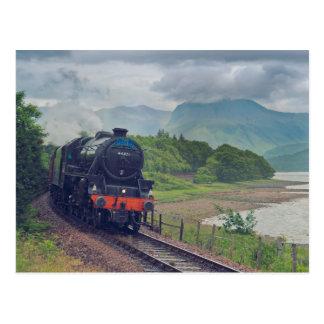 Cartão Postal Trem do vapor de Jacobite