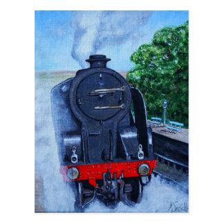 Cartão Postal Trem do vapor na estação