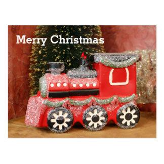 Cartão Postal Trem festivo do feriado do Natal
