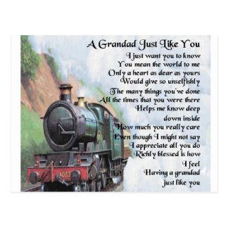 Cartão Postal Trem - poema do Grandad