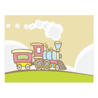 Cartão Postal Trem retro do brinquedo