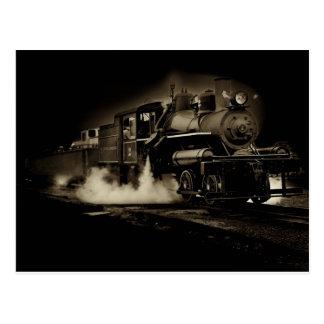 Cartão Postal Trem velho do vapor ao longo da costa de Oregon -