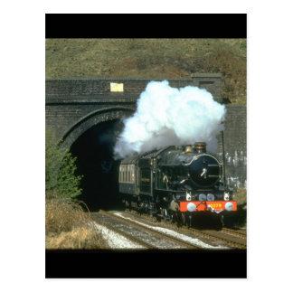 Cartão Postal Trens do no. 4079 Pendennis Castle_Steam de GWR