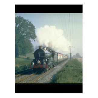 Cartão Postal Trens do return_Steam do BR dos trabalhos do rei