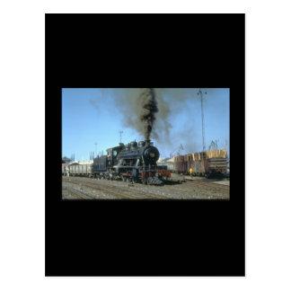 Cartão Postal Trens do the_Steam das derivações do no. 572 de