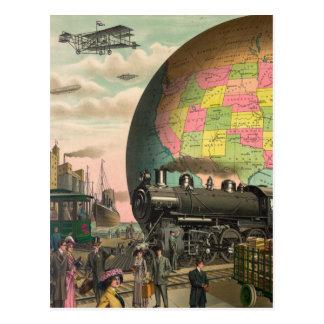 Cartão Postal Trens, planos & tudo mais