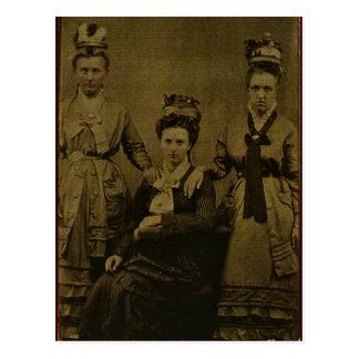 Cartão Postal Três mulheres do país cerca de 1870