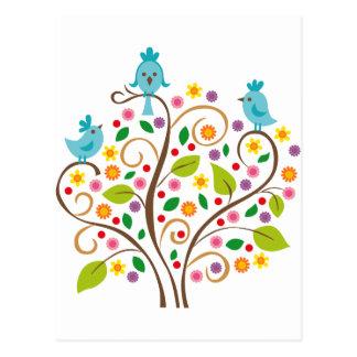 Cartão Postal três pássaros