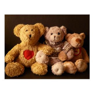 Cartão Postal Três ursos de ursinho