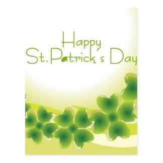 Cartão Postal trevo de 4 folhas para o dia de St Patrick