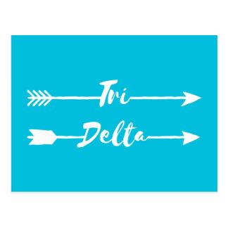 Cartão Postal Tri setas do delta  