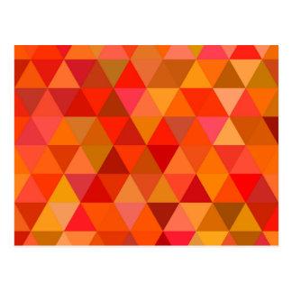 Cartão Postal Triângulos quentes do sol