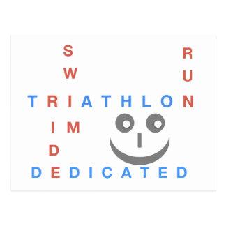 Cartão Postal Triathlon eu sou dedicado