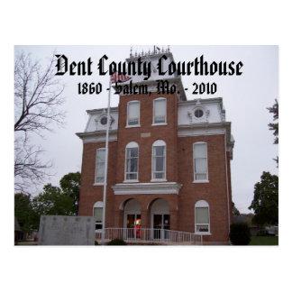 Cartão Postal Tribunal de Dent County, 1860 - Salem, Mo. …