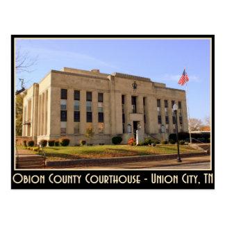 Cartão Postal Tribunal de Obion County - cidade da união, TN