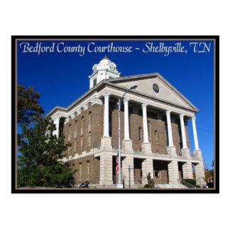Cartão Postal Tribunal do Condado de Bedford - Shelbyville, TN
