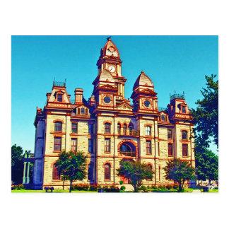 Cartão Postal Tribunal do Condado de Caldwell, Lockhart, TX.