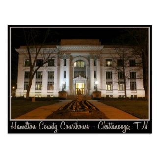 Cartão Postal Tribunal do Condado de Hamilton - Chattanooga, TN