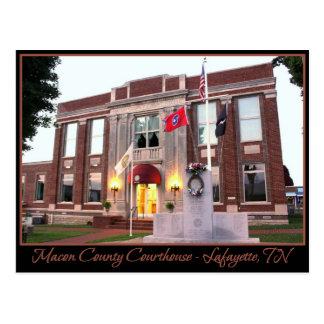 Cartão Postal Tribunal do Condado de Macon - Lafayette, TN