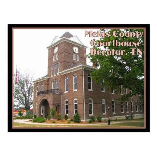 Cartão Postal Tribunal do Condado de Meigs - Decatur, TN