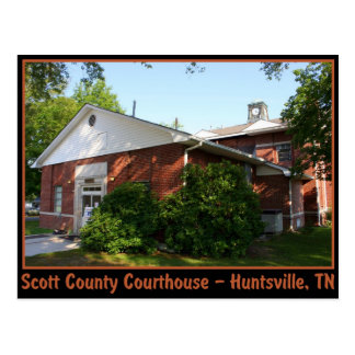 Cartão Postal Tribunal do Condado de Scott - Huntsville, TN