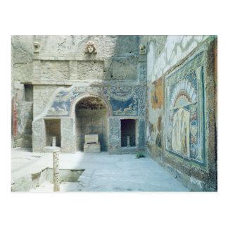 Cartão Postal Triclinium do ar livre da casa de Netuno