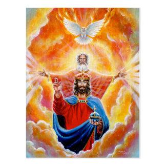 Cartão Postal Trindade santamente na glória