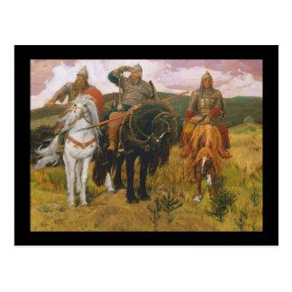 Cartão Postal Trio de escuteiros de Viking (guerreiros)