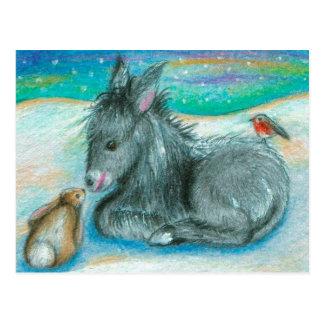 Cartão Postal Trio do Xmas na neve