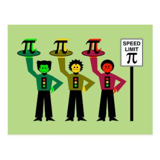 Cartão Postal Trio temperamental do sinal de trânsito ao lado do