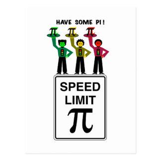 Cartão Postal Trio temperamental do sinal de trânsito no