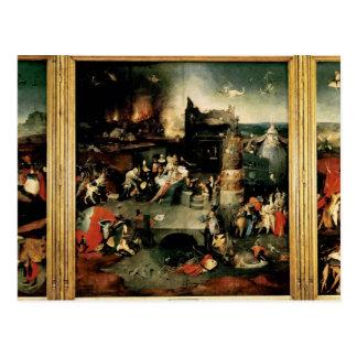 Cartão Postal Triptych: A tentação de St Anthony