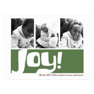 Cartão Postal Triptych da foto do feriado 3 da alegria & da paz