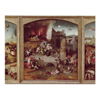 Cartão Postal Triptych da tentação de St Anthony