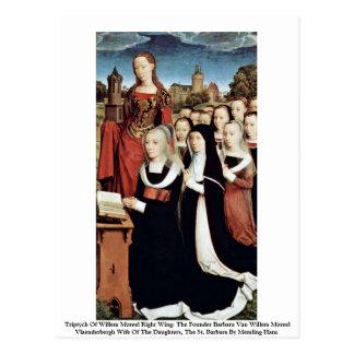 Cartão Postal Triptych do direita de Willem Moreel