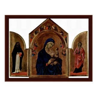 Cartão Postal Triptych do prato principal de Londres: Madonna