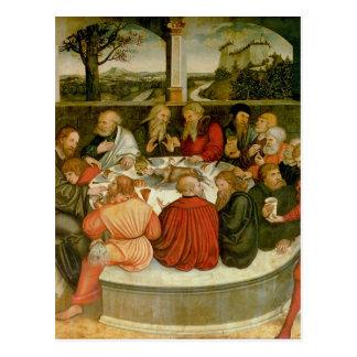 Cartão Postal Triptych, painel esquerdo, Philipp Melanchthon