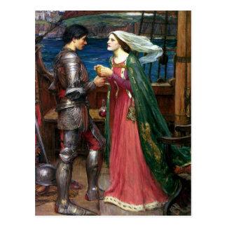 Cartão Postal Tristan e Isolde por John William Waterhouse