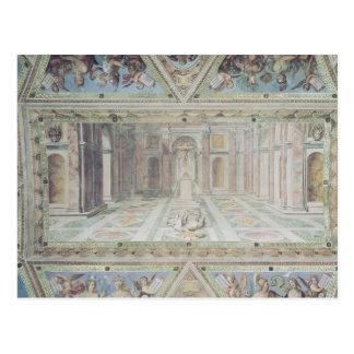 Cartão Postal Triumph da cristandade, das salas de Raphael