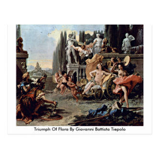 Cartão Postal Triumph da flora por Giovanni Battista Tiepolo