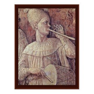 Cartão Postal Triumph do detalhe de Scipio por Andrea Mantegna