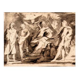 Cartão Postal Triunfos de Roma por Paul Rubens