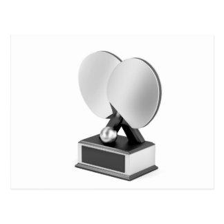 Cartão Postal Troféu de prata do ténis de mesa