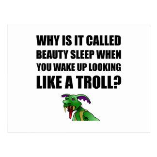 Cartão Postal Troll do sono de beleza