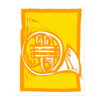 Cartão Postal Trompa francesa
